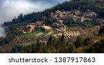 samaba rice terrace fields in... | Shutterstock . vector #1387917863