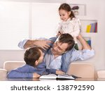 portrait of happy  father and... | Shutterstock . vector #138792590