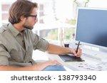 artist using graphics tablets...   Shutterstock . vector #138793340