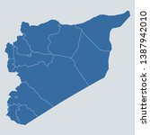 syria map on gray background...