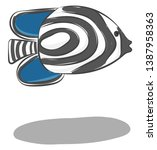 Clipart Of The Zebrafish With...