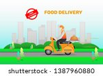 fast and free delivery service... | Shutterstock .eps vector #1387960880