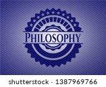 philosophy with denim texture....   Shutterstock .eps vector #1387969766
