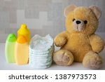 disposable nappies  baby... | Shutterstock . vector #1387973573
