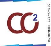 carbon dioxide symbol logo icon ... | Shutterstock .eps vector #1387974170
