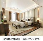 3d rendering luxury modern... | Shutterstock . vector #1387978196