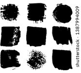 collection of spots  brush... | Shutterstock .eps vector #1387994009