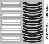 Set of  old ribbon banner ,.Illustration eps10 - stock vector