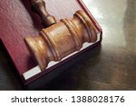 Judge Gavel On Red Legal Book ...