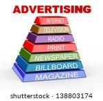 3d illustration of pyramid of...   Shutterstock . vector #138803174