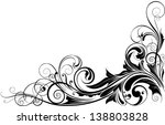 black floral corner.detailed... | Shutterstock .eps vector #138803828