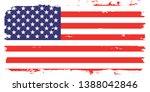 grunge usa flag.  american flag ... | Shutterstock .eps vector #1388042846