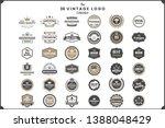 vintage retro vector logo for... | Shutterstock .eps vector #1388048429