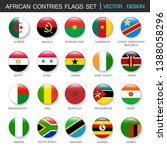 african flags  set and members... | Shutterstock .eps vector #1388058296