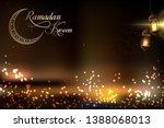 ramadan kareem ramazan mubarak... | Shutterstock .eps vector #1388068013