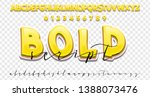 bold 3d and handwriting font... | Shutterstock .eps vector #1388073476