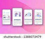 onboarding screens concept  ... | Shutterstock .eps vector #1388073479
