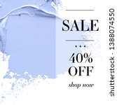 sale 40  off sign over paint... | Shutterstock .eps vector #1388074550