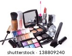 makeup set isolated on white... | Shutterstock . vector #138809240