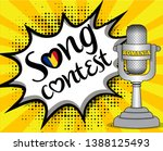 pop art song contest with... | Shutterstock .eps vector #1388125493