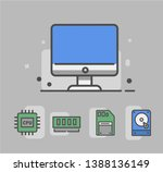 computer icon with hardware... | Shutterstock .eps vector #1388136149