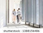 rear view of business people... | Shutterstock . vector #1388156486