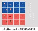 melatonin hormone molecule. in... | Shutterstock .eps vector #1388164850