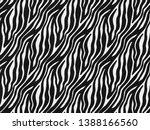 zebra fur skin seamless pattern ... | Shutterstock . vector #1388166560