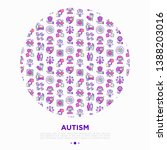 autism concept in circle ... | Shutterstock .eps vector #1388203016