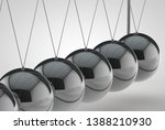 chrome balancing spheres know... | Shutterstock . vector #1388210930