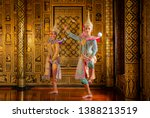 art culture thailand dancing in ... | Shutterstock . vector #1388213519