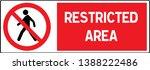 no pedestrian access industrial ... | Shutterstock .eps vector #1388222486