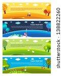 four seasons  winter  spring ... | Shutterstock .eps vector #138822260