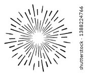 radial lines in circle form for ... | Shutterstock .eps vector #1388224766