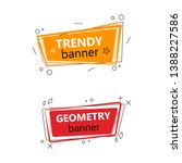 set of color stylish banners.... | Shutterstock .eps vector #1388227586