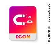 white customer attracting icon... | Shutterstock .eps vector #1388233280