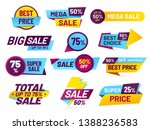 sale tags. retail sales... | Shutterstock . vector #1388236583