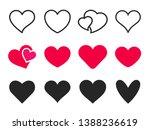 love heart icon. loving hearts  ... | Shutterstock . vector #1388236619
