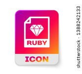 white ruby file document icon.... | Shutterstock .eps vector #1388242133