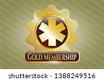 gold emblem or badge with... | Shutterstock .eps vector #1388249516