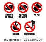 set of prohibition sign...   Shutterstock .eps vector #1388254709