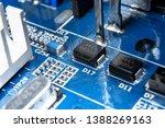 macro shot of circuit board...   Shutterstock . vector #1388269163