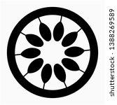 nice glyph passionfruit vector... | Shutterstock .eps vector #1388269589