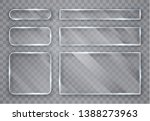 glass plates set. glass banners ... | Shutterstock .eps vector #1388273963