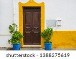 a classic view of door with...   Shutterstock . vector #1388275619