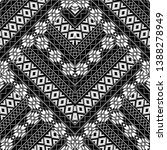 tribal geometric zigzag black... | Shutterstock .eps vector #1388278949