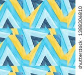 abstract blue and yellow...   Shutterstock . vector #1388306810