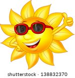 sun cartoon character with... | Shutterstock .eps vector #138832370