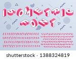 isometric font. geometric... | Shutterstock .eps vector #1388324819