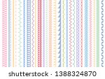 sewing seams patterns.... | Shutterstock .eps vector #1388324870